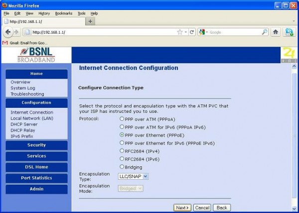 how to enable wifi in bsnl modem an1020-21