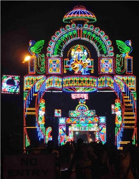 Lighting of Chatra Bandhu Club.