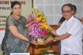 Tapan Chakraborty greets Smriti Irani before the Meeting with NE Ministers & Officials at Pragna Bhavan (5)