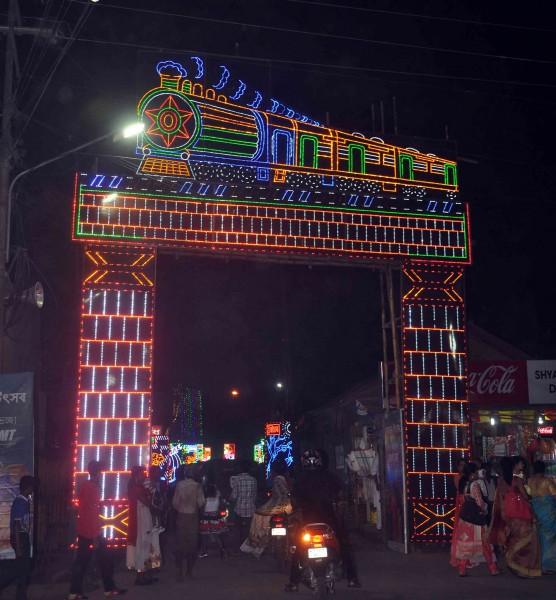 Modern Club near Nagerjala - railway lighting (2)