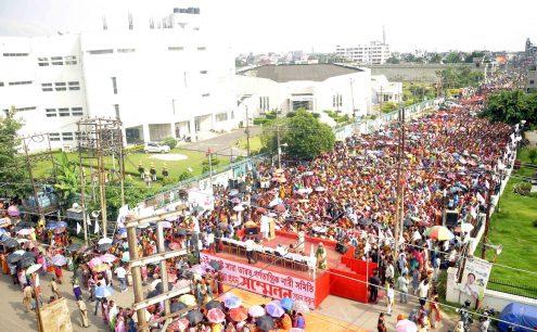 AIDWA Mass Gathering at Agartala Manik Sarkar (14)